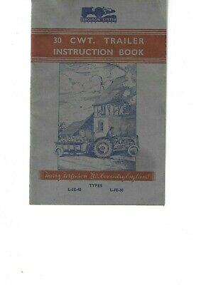 Ferguson 30cwt Trailer Instruction Book ........................ Original Manual