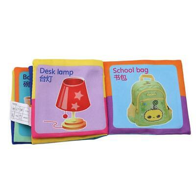 5 Style Baby Soft Cloth Books Rustle Sound Kid Enlightening Stroller Toy 6L