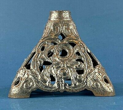 Antique Cast Iron Pyramid Oil Lamp Base
