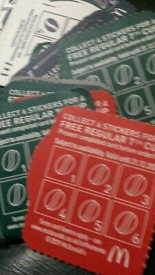 McDonald's loyalty cards without stickers x50 expires 31 12th 2020