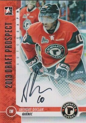 ANTHONY DUCLAIR 2013 ITG Draft Prospect Hard-Signed AUTO Autograph Pre RC