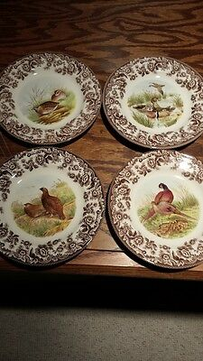 spode woodland set of 4 dinner plates