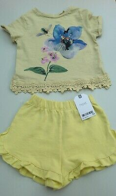 Next baby girls tee shirt and shorts age 12-18 months
