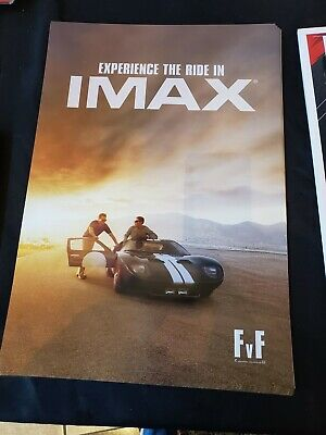 "Ford vs Ferrari Movie 13""x19"" Limited Edition IMAX Posters PROMO Ford GT New"