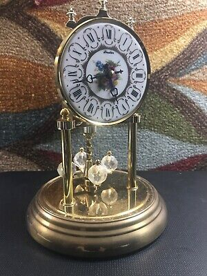 Vintage LINDEN Anniversary Clock w/Glass Dome - Working condition - West Germany