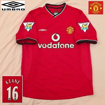 Manchester United Football Shirt Roy Keane ( M ) Genuine UMBRO Excellent Jersey
