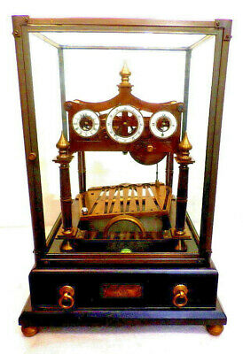 Triple Dial Antique Style Congreve Rolling Ball Clock With Dome