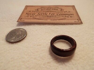 Hand Carved Wood Ring size 10-10.5 Indiana cherry wood rich dark in color