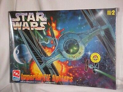 1997 Star Wars Imperial Tie Fighters Amt Ertl Sealed In Original Cello