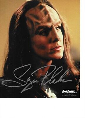 Star trek hand signed Autograph Suzi Plakson As Kheyler
