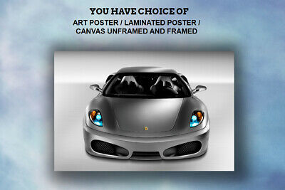 Ferrari From the front,ART POSTER,CANVAS UNFRAMED and FRAMED CAR PRINTS