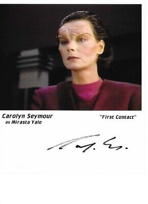 Star trek Hand signed Autograph Caroline Seymour As Marasta Yale