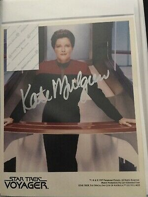 Star Trek hand signed autograph Kate Mulgrew As Captain Janeway