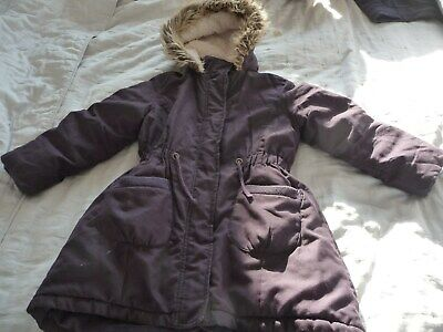 John Lewis girls' winter coat 122cm 7yrs, fur lined hood, excellent