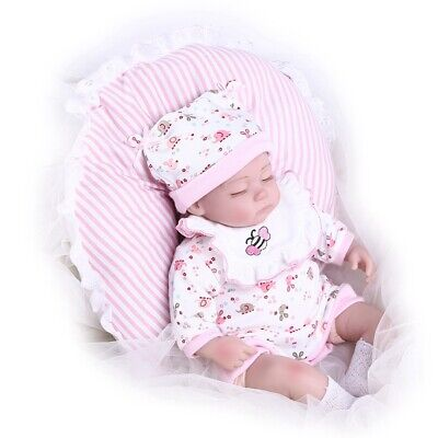 Zobbe 17in Soft Vinyl Silicone Realistic Reborn Baby Dolls Real Life Like