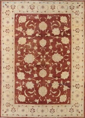 All-Over Floral Oushak Peshawar Oriental Area Rug Wool Hand-Knotted 10x14 Carpet
