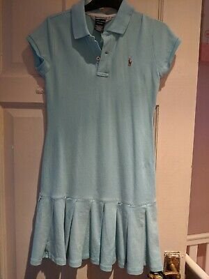 Girls Ralph Lauren Polo Dress Age 8-10 Light Blue Please See Pics
