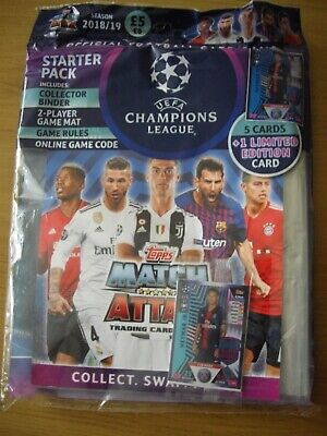 Topps Match Attax Uefa Champions League Season2018/2019 Starter Pack