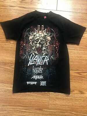 2018 Slayer Anthirax Lamb of God Farewell tour T Shirt ( S ) size