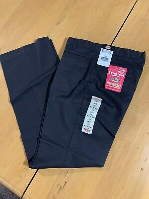 Dickies Women's Black Pants Stretch Fabric Size 11 Brand New With Tags