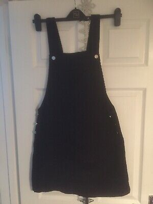 PAPAYA pinafore dungaree dress cord Black Size 12