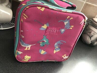 Joules Cats Lunch Bag And Plastic Tub
