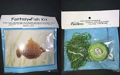 FiberSpace Knitting /& Beading Pattern #P-14 Beaded Aquarium Series Goldfish