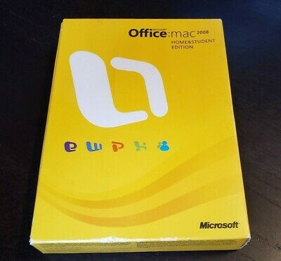 Microsoft Office Mac Home and Student 2008 GZA-00006 Word Excel PowerPoint