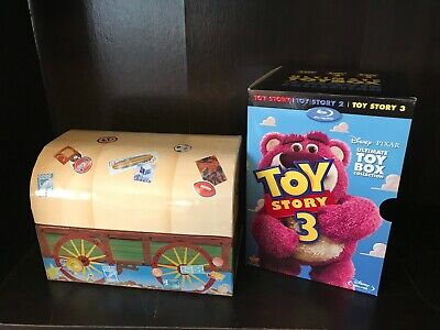 Disney Pixar Toy Story ULTIMATE TOY BOX COLLECTION 3 Movies Blu-ray + DVD Set