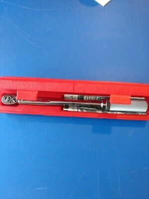 "Snap-On #Qjr-2100C Torque Wrench Click Type 3/8"" Drive With Plastic Case"