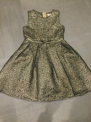 Girls John Lewis Gold Party Dress Age 9