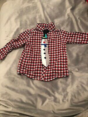 Next Baby Boy 12-18 Months Christmas Shirt With Musical Tie