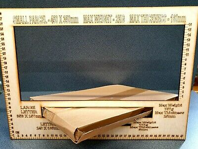 Royal Mail PPI Size Guide Small Parcel Large Small Letter Measure Ruler 3 in 1