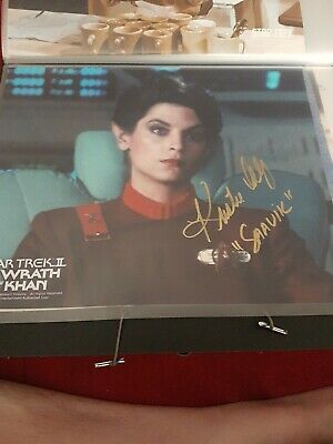 Star Trek Autograph Hand Signed Kirstie Alley From Wrath Of Khan