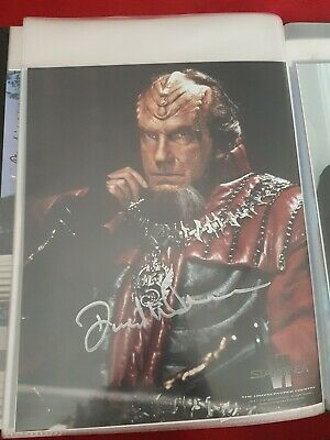 Star Trek Hand Signed Autograph David Warner. Star Trek VI Undiscovered Country