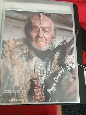 Star trek hand signed autograph William Morgan shepherd. Star Trek VI.