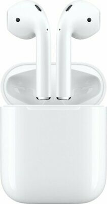 Apple AirPods White In Ear Headsets with Wired Charging Case - MMEF2AMA