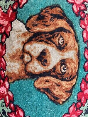 Vintage Mohair Carriage Buggy Lap Sleigh Blanket Rug, Hunting Dog Image