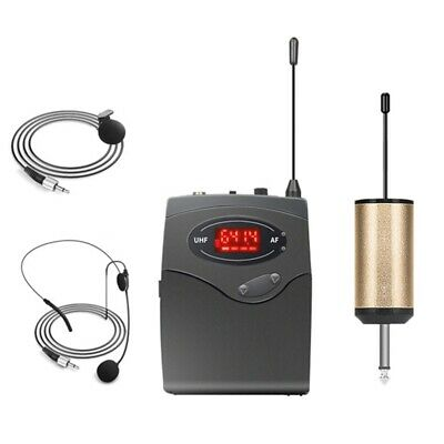 Wireless Microphone System,Wireless Microphone Set With Headset & Lavalier Lapel