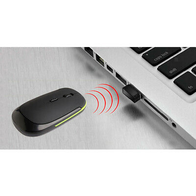 2.4GHz Black Cordless Mouse Mice Optical Scroll For PC Laptop Computer + USB