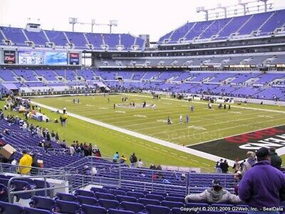 BALTIMORE RAVENS vs, PITTSBURG STEELERS TWO LOWER LEVEL TICKETS