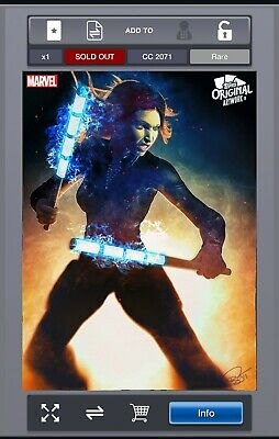 Rare - MARVEL Collect! by Topps - Original Artwork - Black Widow - CC2071