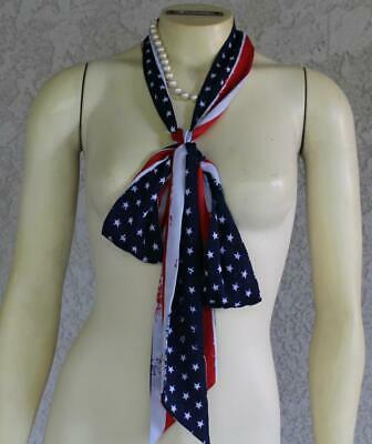 Scarf tie red country western square dance apache tie NEW cowboy DJ wedding