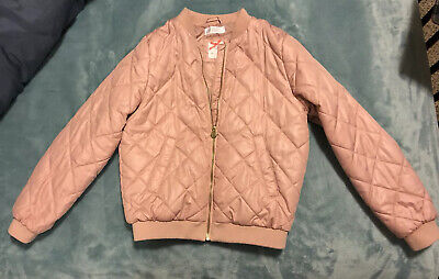 H&M Girls Pink Quilted Jacket Size 9-10Y