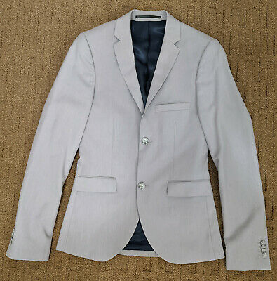 Topman Ultra Skinny Light Gray Blazer - 34R - New w/o Tags - Slim Modern Fit