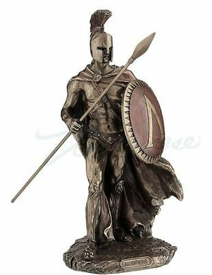 Leonidas King Of Sparta with Spear & Shield Statue Greek *PERFECT HOLIDAY GIFT