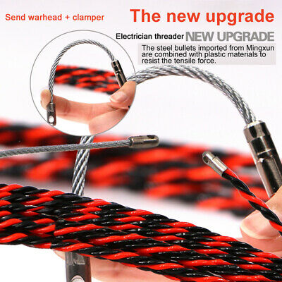 5m-50m Electrical Wire Threader Electrician Threading Device Wire Cable Puller