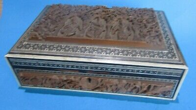 Anglo Indian Sandalwood Box, santal boite indienne marqueterie