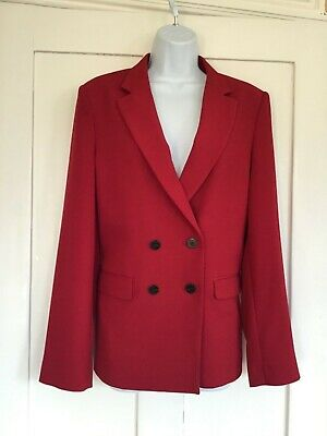 TopShop Boutique Burgundy Wine Deep Red Double Breasted Blazer Jacket Premium