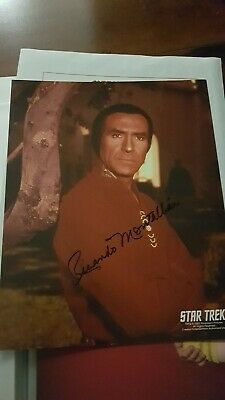 Star Trek Hand Signed Autograph Ricardo Montalban As Khan.